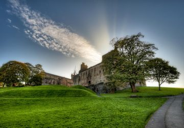 Linlithgow Palace in the town of Linlithgow, West Lothian, Scotland. UK