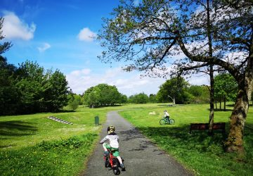 Children biking at Polkemmet Country Park