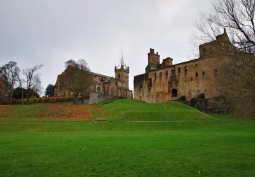 Linlithgow Palace upon the hill