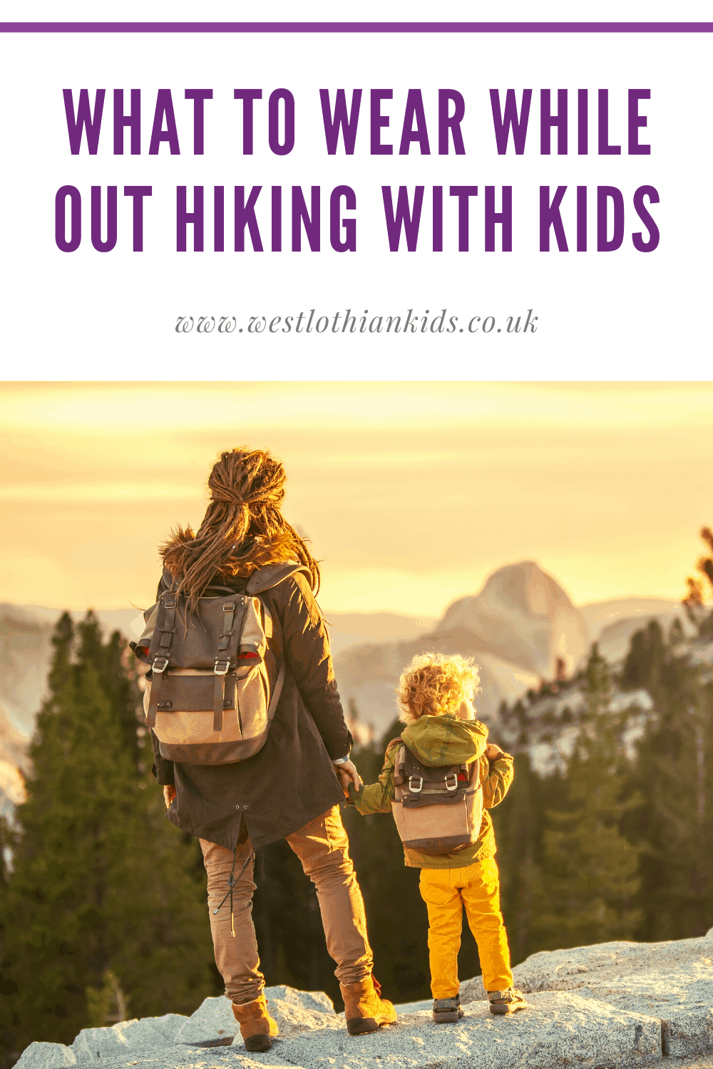 What to wear while out hiking with kids - Winter and Summer Hiking